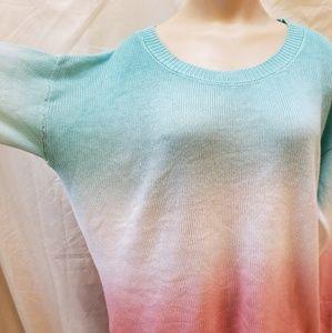 Soho Street ombre hi-low sweater